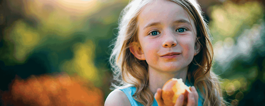Plant,Food,Painting,Face,Eating,Child,Blond,Happy,Smile,Child Model