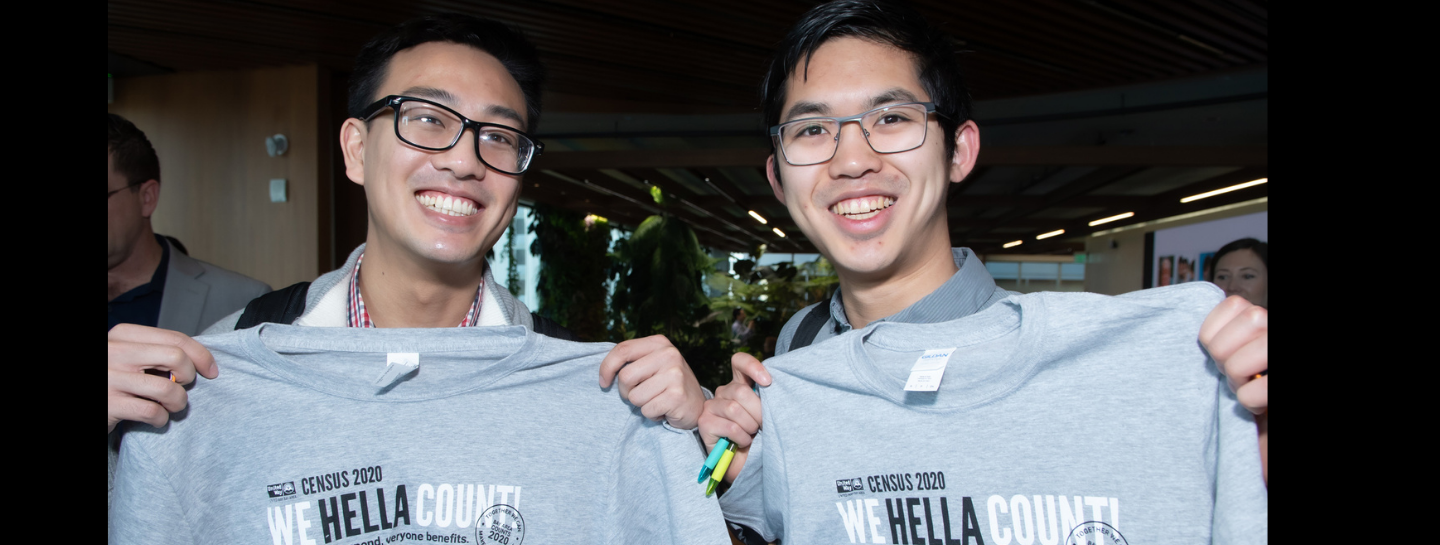 unitedway_bayarea_Two_men_holdingup_Census_tshirts_HellaCount.png