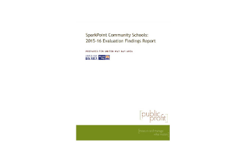 SparkPoint Community Schools: 2015-16 Evaluation Findings Report | 2016