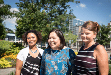 Women United: A group of women standing together outside in Cincinnati