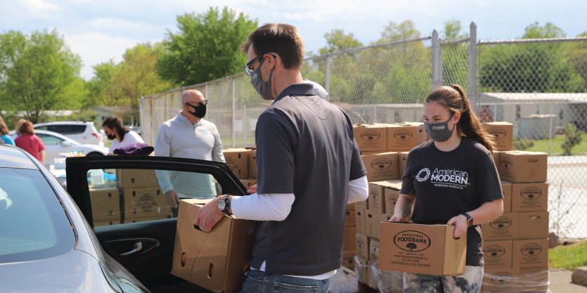 United Way's Eastern Area office organized a pop-up food pantry on May 7, 2021.