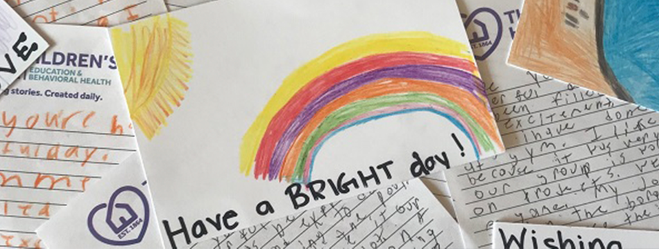 Notes of Encouragement with Rainbow