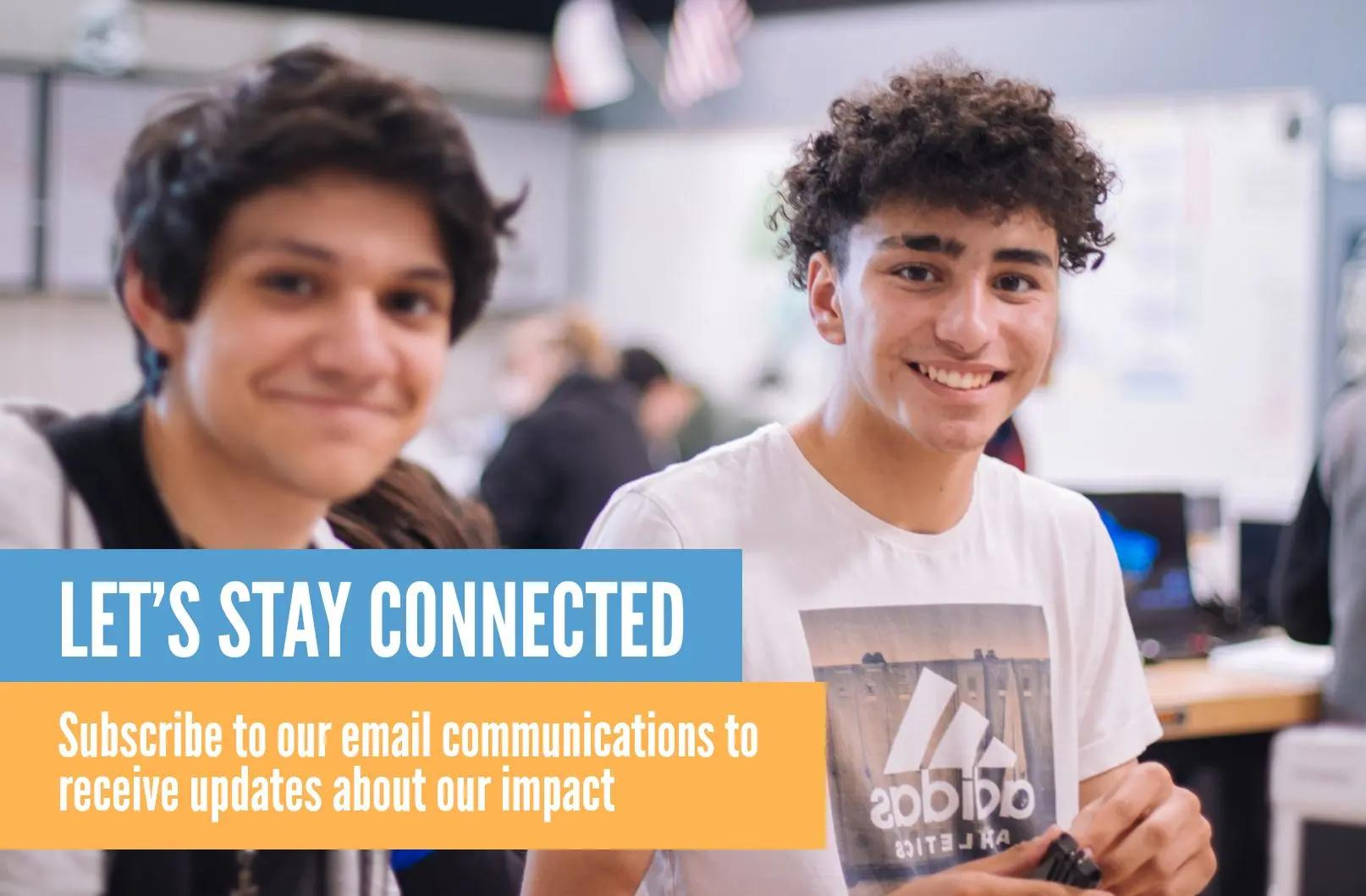 Subscribe to our email communications