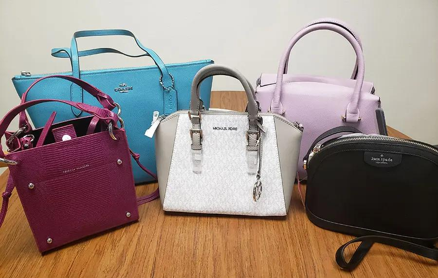 Purses, like the ones pictured, are available to bid on through Power of the Purse