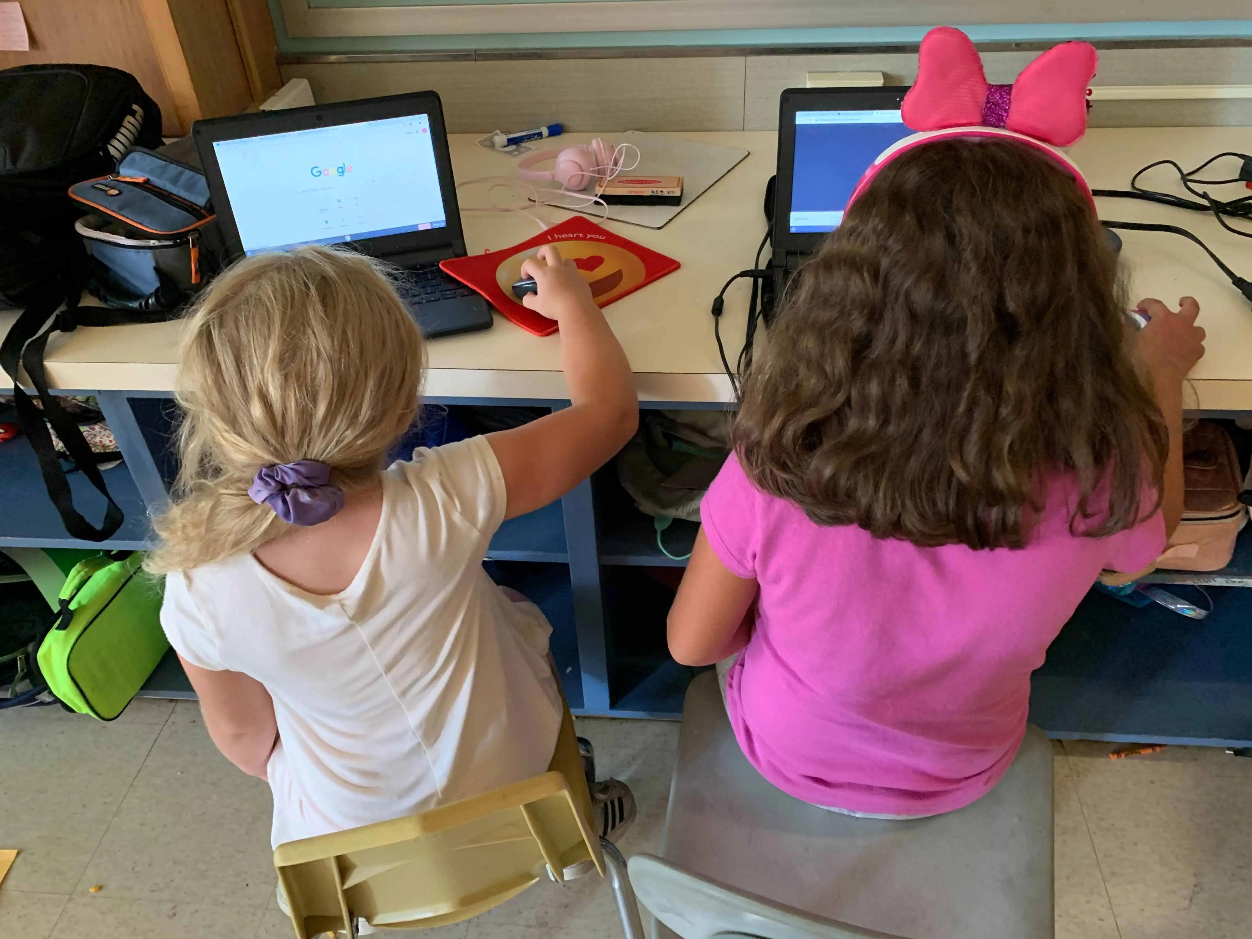 Students at the New Milford Youth Agency stay on track with learning while their parents are working