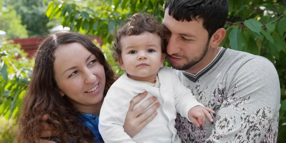 Family with small child