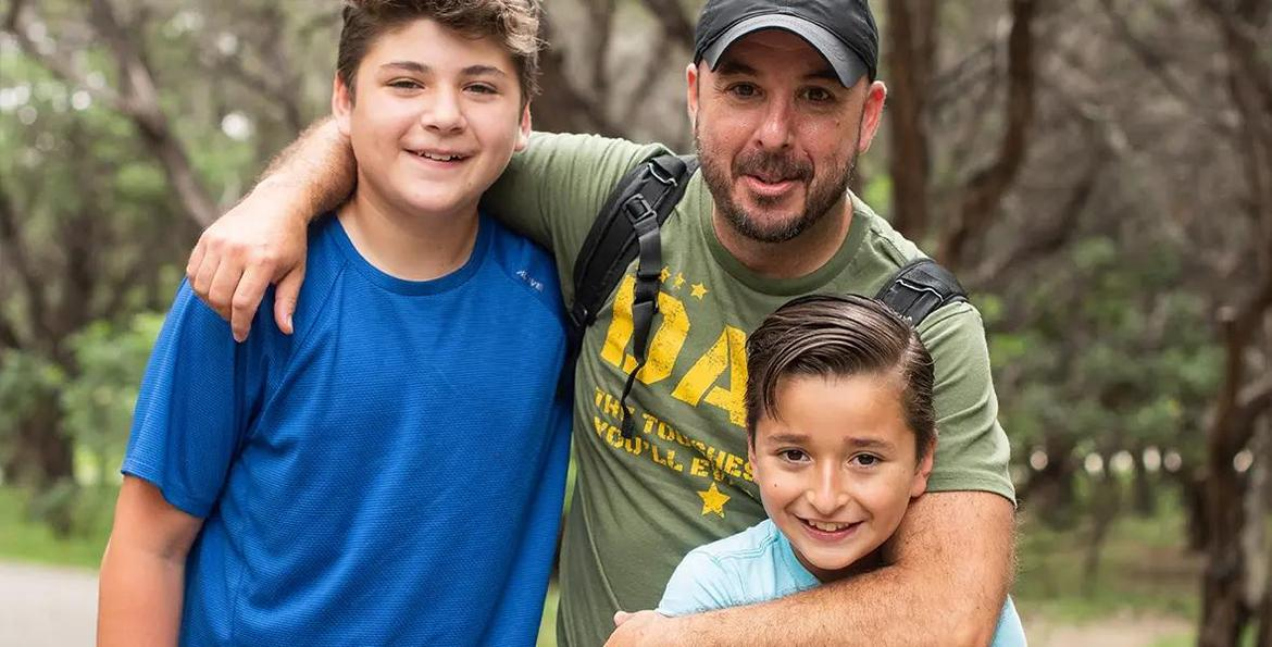 Mark and his two sons, Markus and Mason.