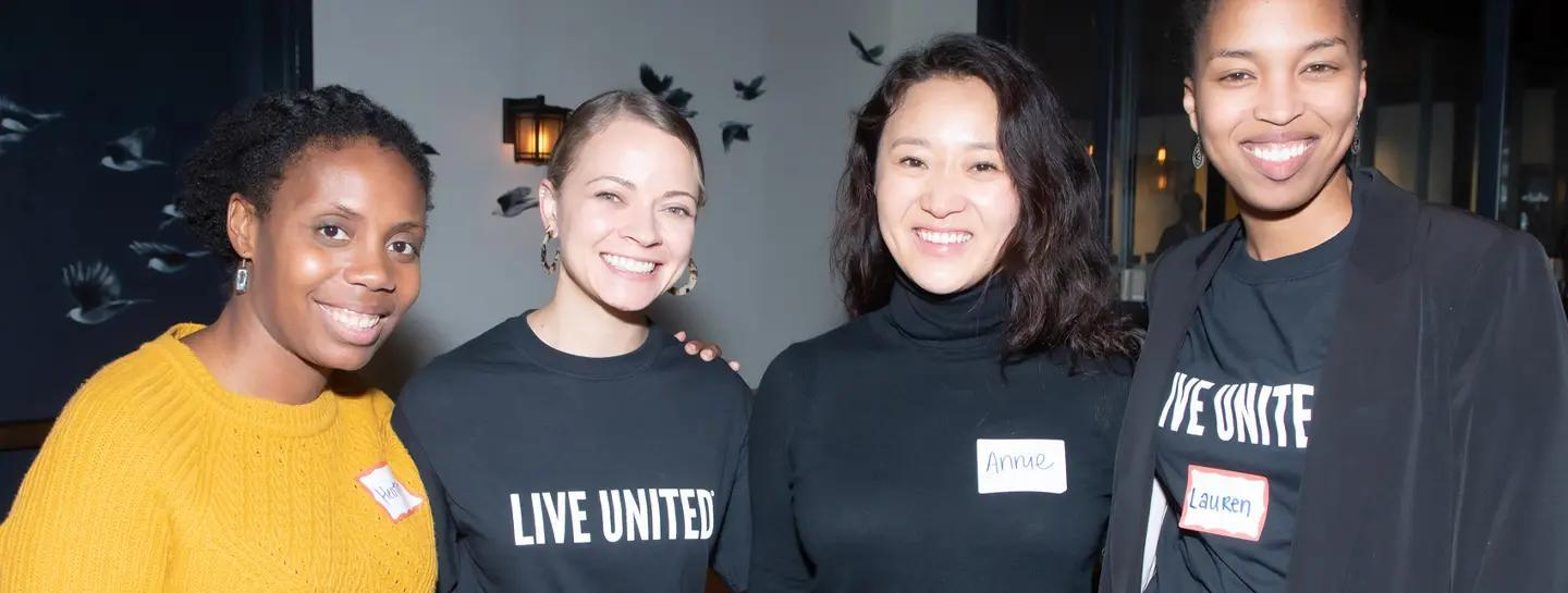 Group of women posing at Untied Way Bay Area Event