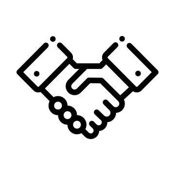 graphic icon of a handshake