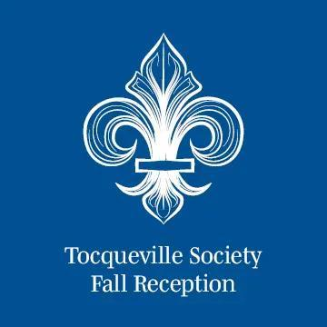 A logo that reads Toqueville Society Fall Reception
