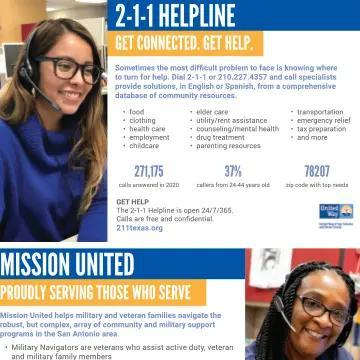 2-1-1 and Mission United One-Pager