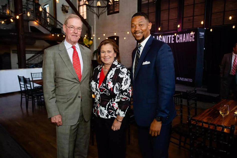 Philanthropists of the Year: Mary-Ann and Wally Pinkard with United Way of Central Maryland CEO Franklyn Baker.