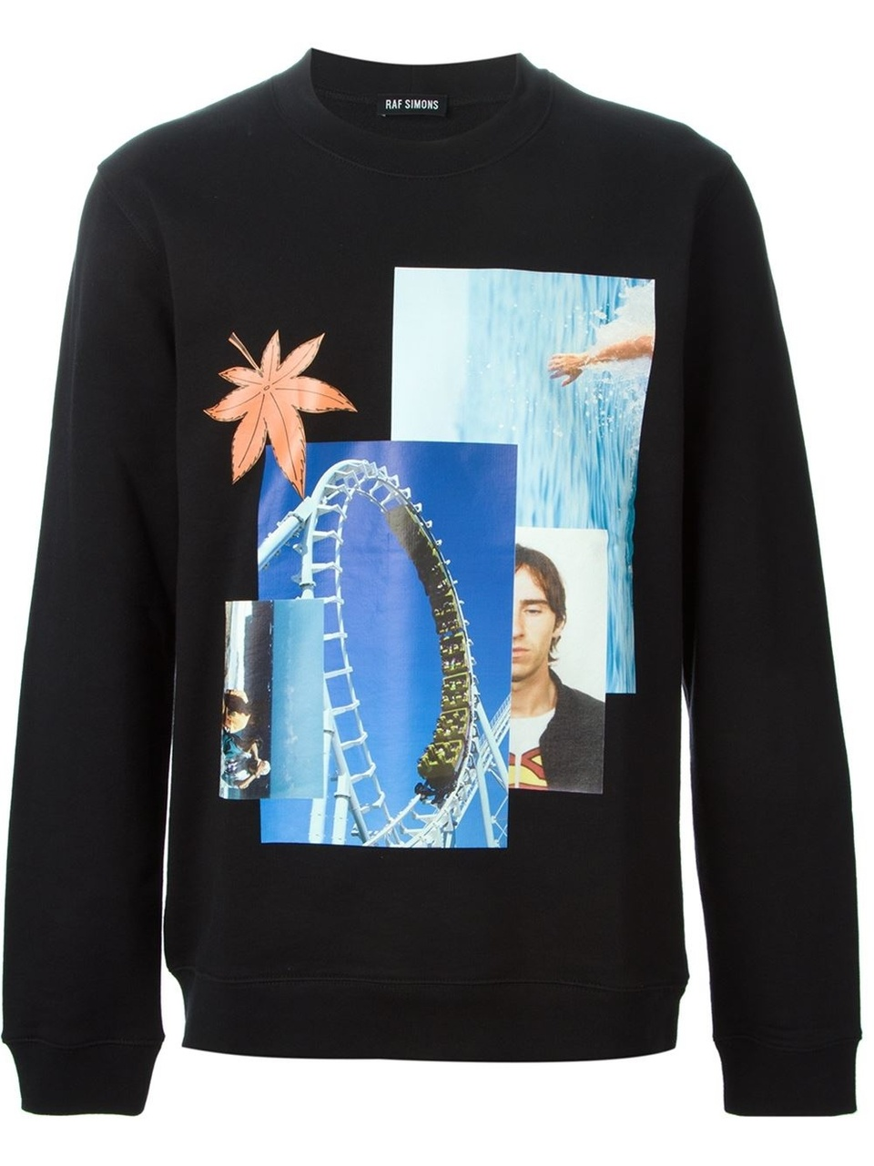Rollercoaster print sweater by Raf Simons
