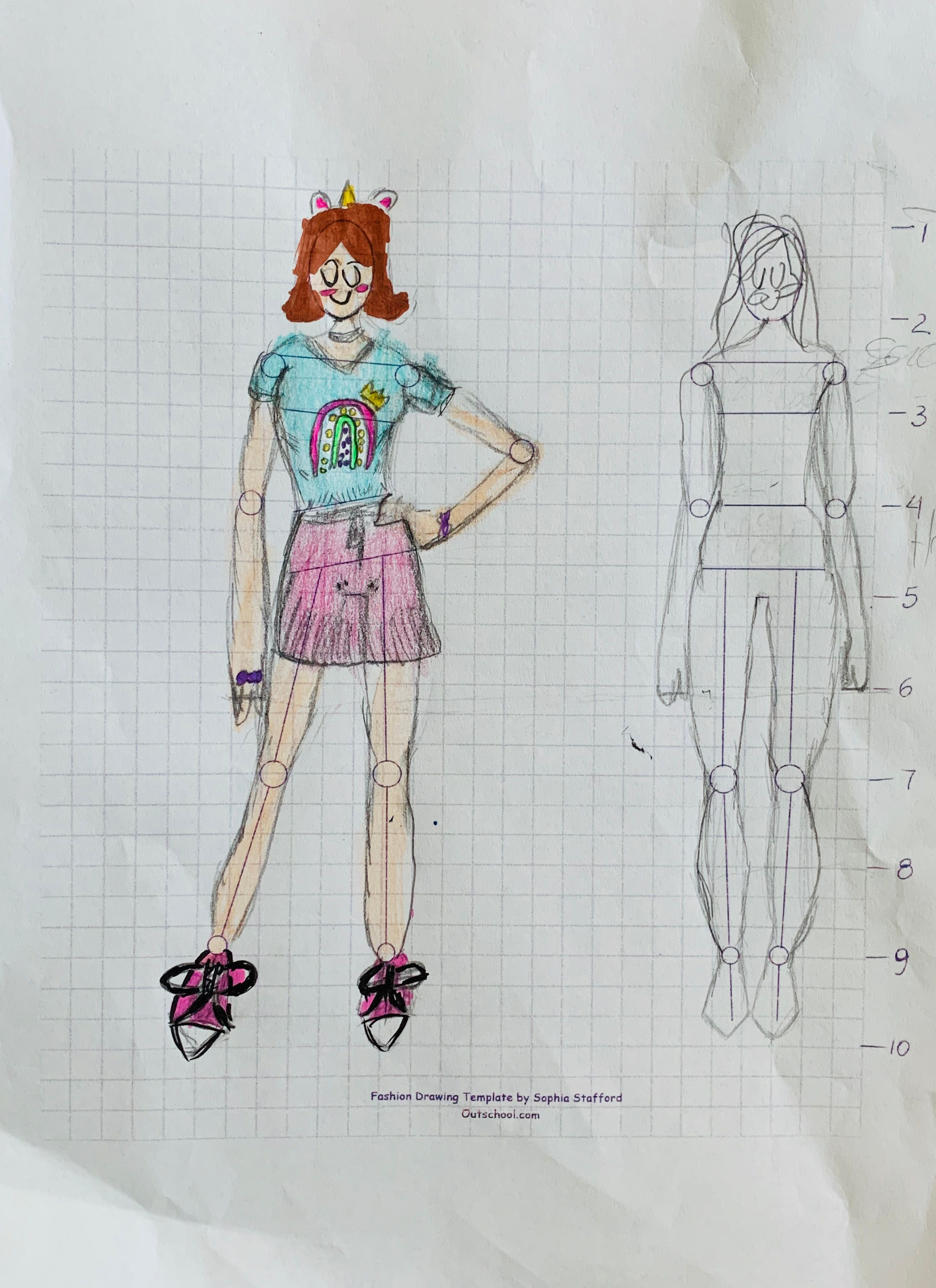Let S Draw A Fashion Figure Intro To Fashion Drawing And Illustration Small Online Class For Ages 9 12 Outschool