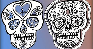Draw And Decorate Sugar Skulls Small Online Class For Ages 6 11
