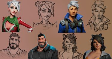 Drawing Faces Using Fortnite Models | Small Online Class for Ages 10-15 |  Outschool