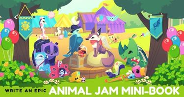 Write an Epic Animal Jam Mini-Book Adventure | Small Online Class for Ages  8-13 | Outschool