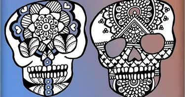 Summer Camp Draw And Decorate A New Sugar Skull Every Day