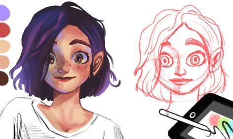 Let S Learn How To Sketch And Color Anime Character S Face On Procreate Small Online Class For Ages 11 16 Outschool