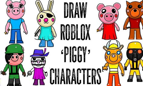 Piggy Roblox Characters Cute Draw Roblox Piggy Game Characters Small Online Class For Ages 9 14 Outschool