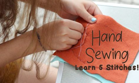 Beginner Hand Sewing Learn 5 Basic Commonly Used Stitches Small Online Class For Ages 5 10 Outschool