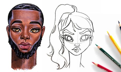 Lets Learn How To Sketch And Color Anime Character S Face Using Color Pencils Small Online Class For Ages 11 16 Outschool