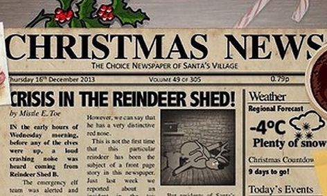 Christmas Articles.Flex A Christmas Newspaper Learn To Write Newspaper Articles Small Online Class For Ages 11 15