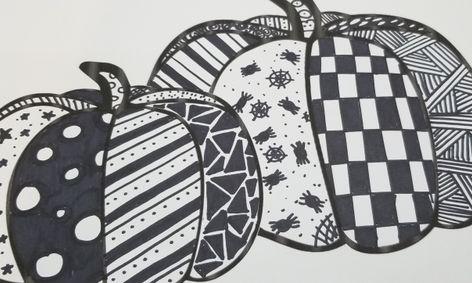 Fall Halloween Pumpkins Zentangles Art Project Small Online Class For Ages 7 12 Outschool