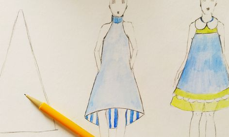 Fashion Design Class Designing The Triangle Silhouette Small Online Class For Ages 9 14 Outschool