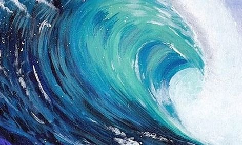 Paint A Wave This Summer! (13-18) Small Online Class For Ages 13