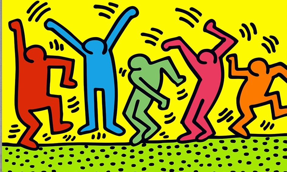 Keith Haring Inspired Artwork   Small Online Class for Ages 6-11   Outschool