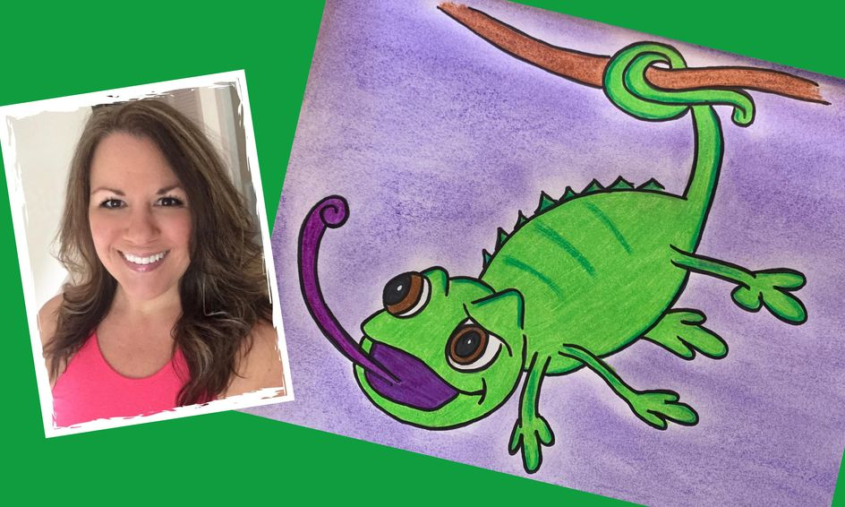 Draw With Me Pascal From Tangled Small Online Class For Ages 5 9 Outschool