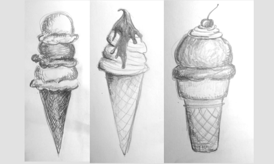 Drawing Ice Cream! Shading and Cross-Hatching for ages 11-13 | Small Online Class for Ages 11-13 | Outschool