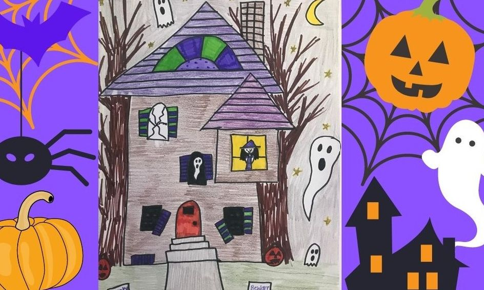 Draw With Miss Sydney Spooky Halloween Haunted House Drawing Small Online Class For Ages 6 8 Outschool