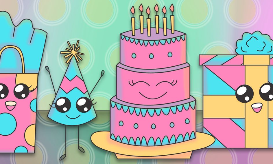 Draw Color Cute Cartoon Birthday Party Characters Small Online Class For Ages 5 10 Outschool