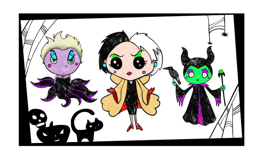 Halloween Drawing Party Draw Creepy Villains In The Kawaii Cute Style Small Online Class For Ages 8 12 Outschool