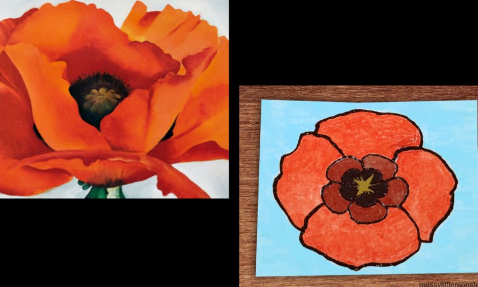 Nailed It! Art Challenge - Georgia O'Keeffe | Small Online Class for Ages 8-12 | Outschool
