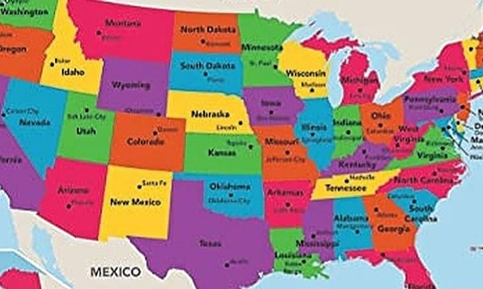 U S A Geography  Draw A Map Of The United States And Learn