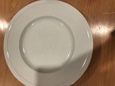 White ceramic plate
