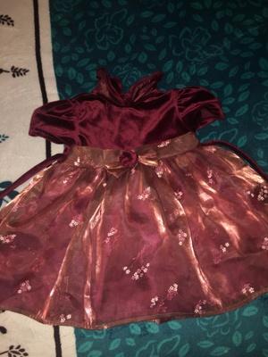 A red velvet dress
