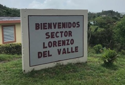 Sign which marks the entrance to sector.