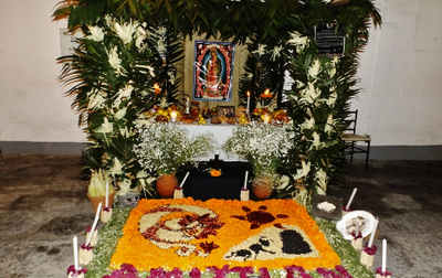 This is a photo of an Ofrenda (or altar)