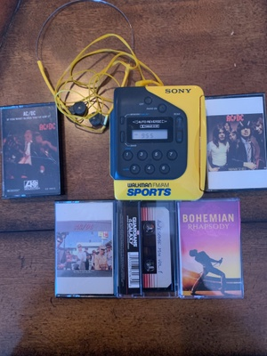 My sony walkman with most of my tapes