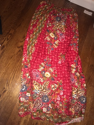 This is my red and gold sarong that my grandma made for me.