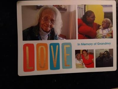 magnet, photos of Grandma and me