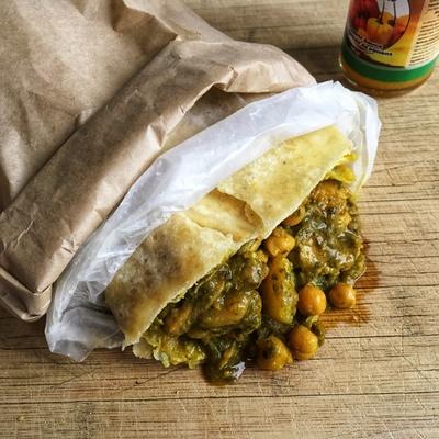 Curry roti