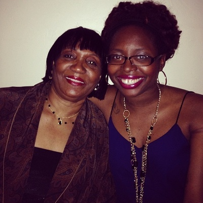 Monique with her mother