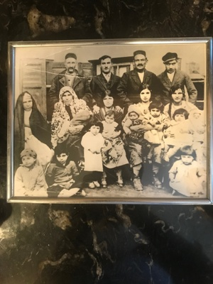 This is a picture Rolen Sabet's ancestors and is the only item which remains in his possession since before his immigration to America
