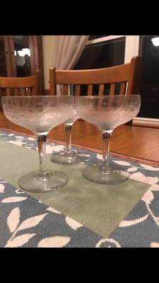 My moms great great great grandmas champagne glasses