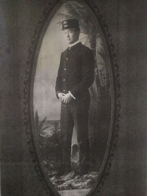 Pearl Park Perry in his uniform, Spanish-American War, c. 1898